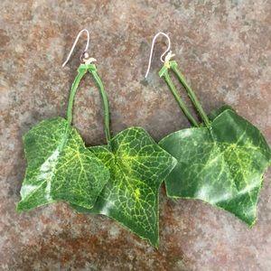 Jewelry - Poison ivy costume, earrings, leaf earrings. SS